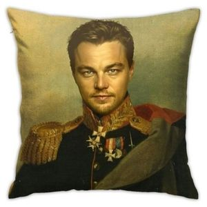 pillow case of Leonardo dicaprio square